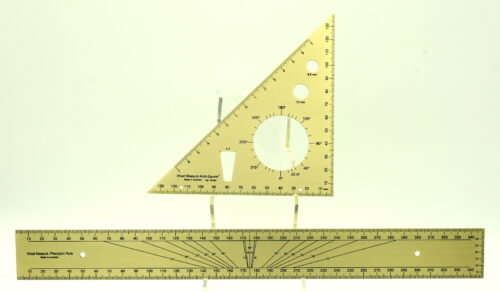 Brass multi square and ruler
