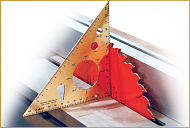 Set sawblades to 45° or 90° and measure depth of cut